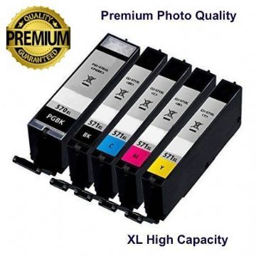 Canon 2 Black & 3 Colour PGI-570XL/ CLI-571XL Refurbished  Multipack  (PGI-570/CLI-571BK/C/M/Y)